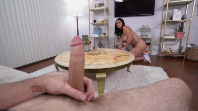 Busty cuban maid fucked and facialized in hotel room