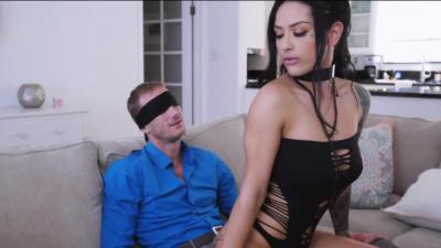 Escort Katrina Jade rides client's dick until a creampie