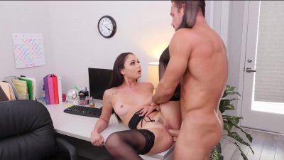 New boss pounds his hard dick in mouth and pussy so good