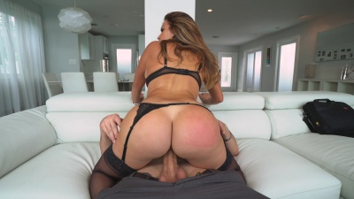 Fat ass Julianna Vega fucked hard & got a facial cum from her bf