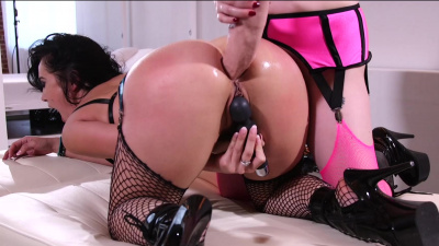 Hot brunette Kristina Rose dominated by beautiful mistress Aiden Starr