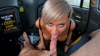 Russian blonde MILF Tanya Virago pays for a ride with her juicy holes