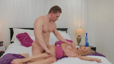 Well-aged milf Erica Lauren using her stepson for her pleasure