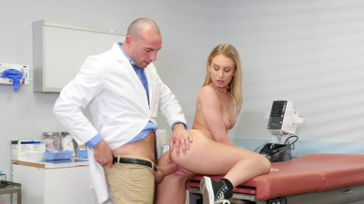Daisy Stone needs a good tonsil check with doctor's dick