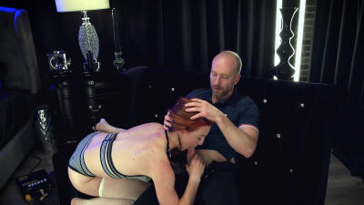 Horny ginger Luna Light shows her yoga skills before and during an intense fuck