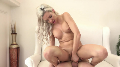 Kasey Jordan sucks the cock rigid and hops on the pole and rides it for all it's worth
