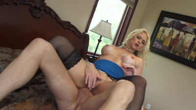 Buxom nympho Sarah Vandella can't live a day without hard dick deep in her cunt