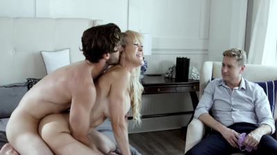 Busty milf Brandi Love cuckolds her loser husband
