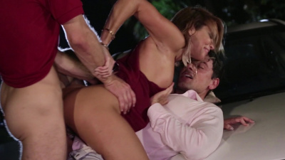 Jessica Drake gets her holes filled with throbbing meat