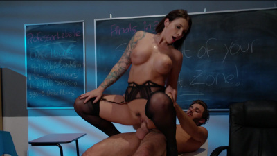 Ivy LeBelle teaches virgin nerd some proper ways to fuck