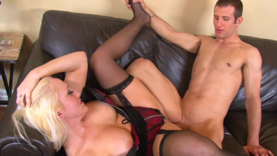Horny milf Alana Evans seduces her daughter's husband