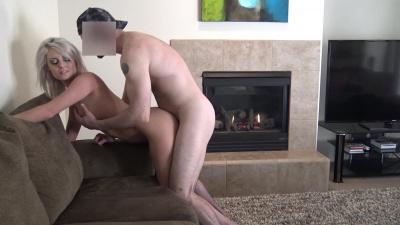 Platinum blonde Victoria Steffanie tries intense anal