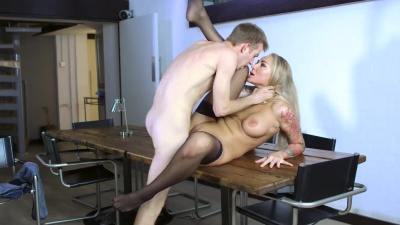 Kayla Green gets fucked deep and hard on the dining room table