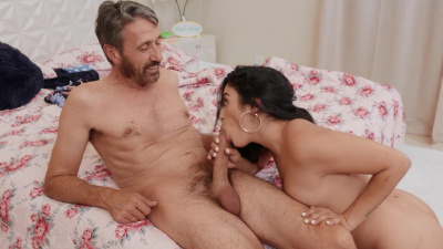 Disgruntled stepdad punishes his rambunctious stepdaughter Vanessa Sky