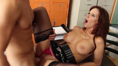 Professor Syren De Mer seduces her student with her massive rack in classroom