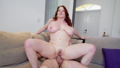 BBW Maggie Green gets stretched in several different positions
