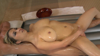 Asian Mia Rider receives a sticky load in her hungry mouth