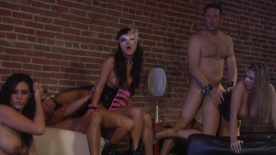 Hot babes have kinky sex on a swinger party