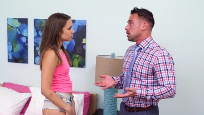 Naughty nanny Liza Rowe bangs her boss to keep her job