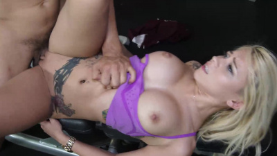 Marsha May having a fitness fuck workout at the gym