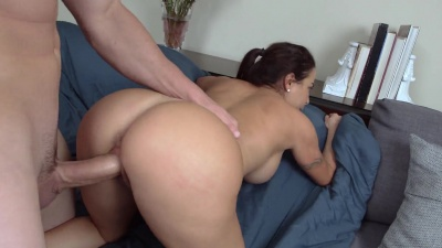 Julianna Vega gets her phat pussy smashed by a huge dick til a nutt on her ass