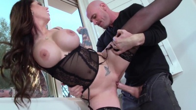 Milf Darling Danika fucks her next door neighbor til drains his balls