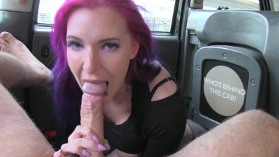 Alexxa gets her pantyhose ripped off for a backseat anal fuck with facial